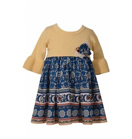 Bonnie Baby Yellow and Blue Dress