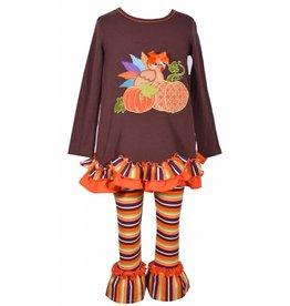 Bonnie Jean Baby Turkey And Pumpkin Tunic And Legging Set