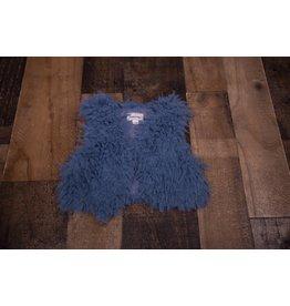 Sassy Me Blue Faux Fur Vest
