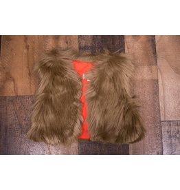 Sassy Me Cocoa Fur Vest
