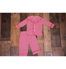 Be Mine Boys Red And White Striped 2pc PJ Set