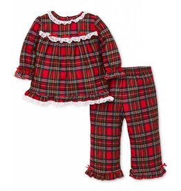 Little Me 2PC Plaid Ruffle PJ Set