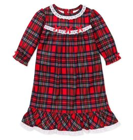 Little Me Plaid Ruffle Gown