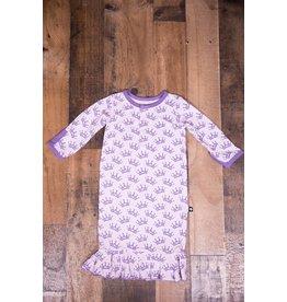 Sweet Bamboo Purple Tiara Ruffle Gown 0-3m