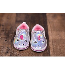 Laura Ashley Silver Unicorn Slip Ons