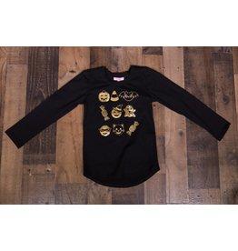 Haven Girl Black Halloween Emoji Shirt
