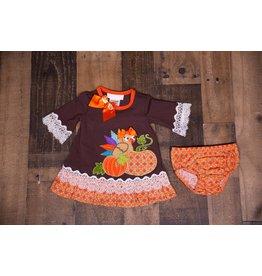 Bonnie Jean Baby Turkey And Pumpkin Dress