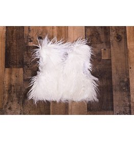 Sassy Me Magic Garden White Monogolian Fur Vest