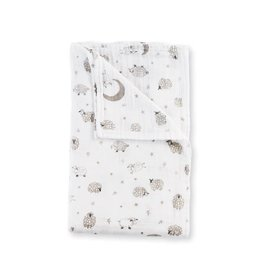 Mud Pie Counting Sheep Muslin Swaddle Blanket