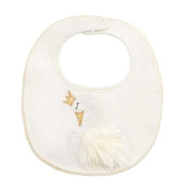 Mud Pie Swan Bib