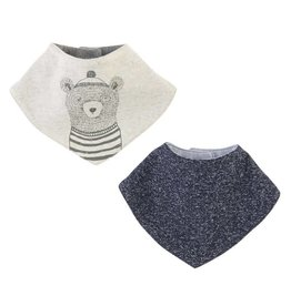 Mud Pie Bear Bandana Bibs