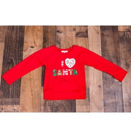 Haven Girl I Love Santa Sweatshirt
