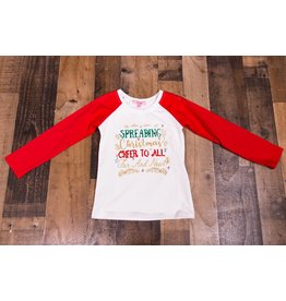 Haven Girl Spreading Cheer Christmas Tee