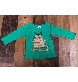 Mud Pie Fat Cat Christmas Shirt