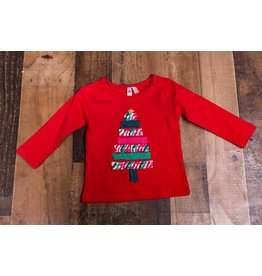 CR Sports Red Rouched Christmas Tree Top