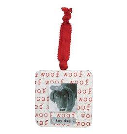 Mud Pie Top Dog Frame Ornament