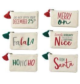 Mud Pie From Santa Canvas Pouch