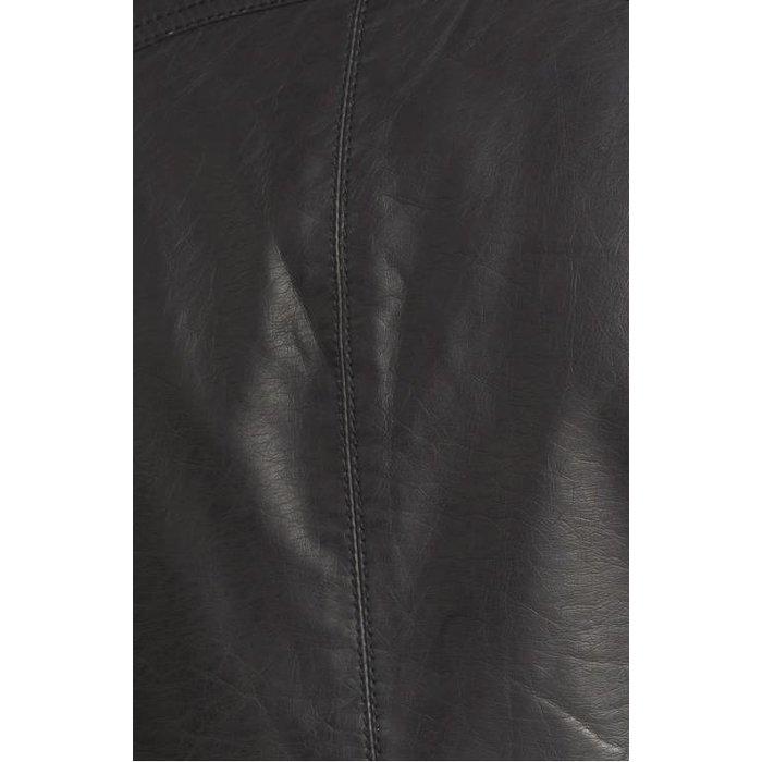 Free People Vegan Leather Hooded Jacket