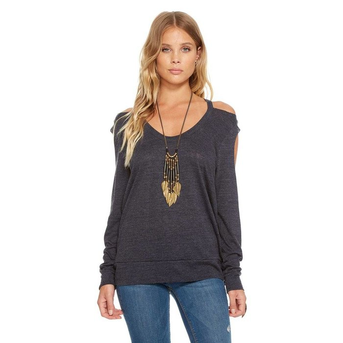 Chaser Double Cold Shoulder Tee