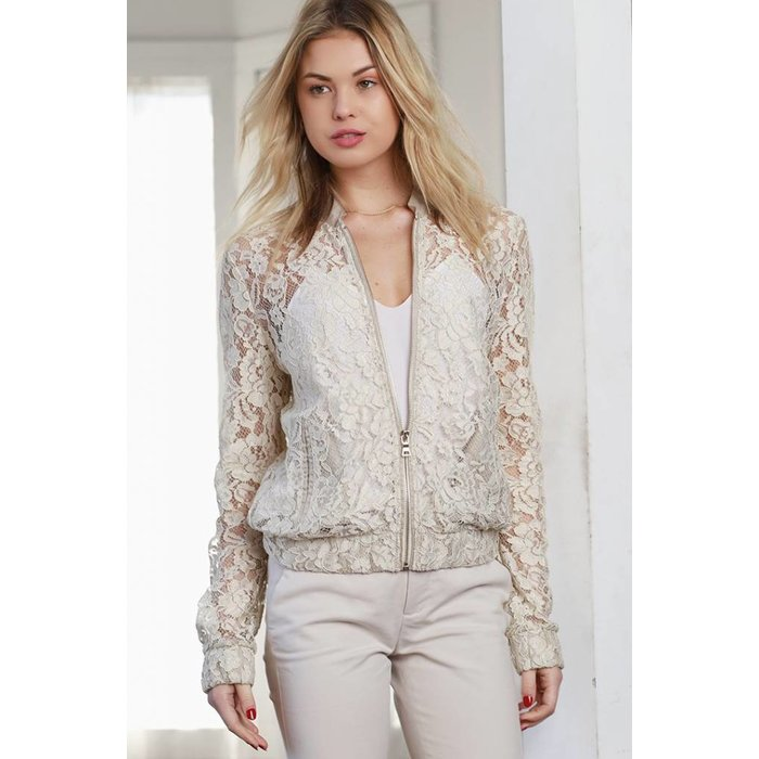 Delicate Lace Bomber