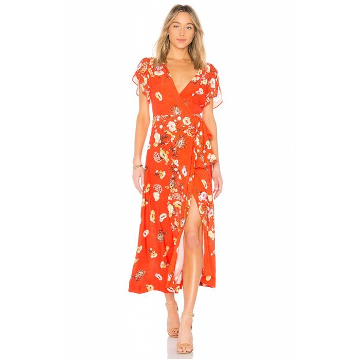 Free People Jess Floral Wrap Dress