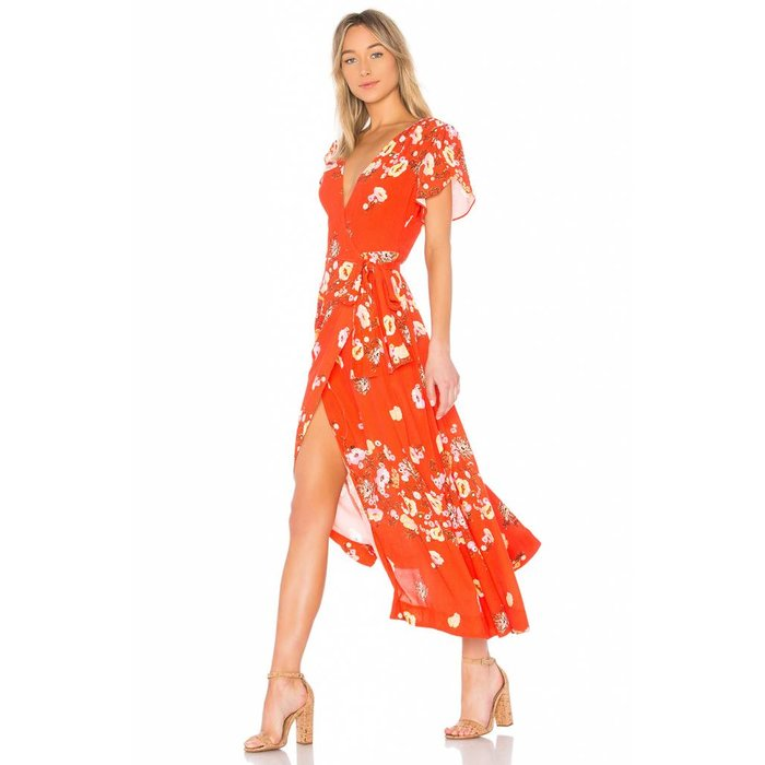 Free People Jess Floral Wrap Dress