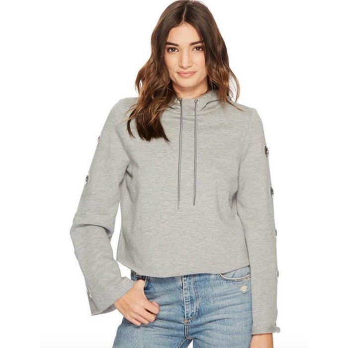 Grommet-Sleeve Pullover Hoodie
