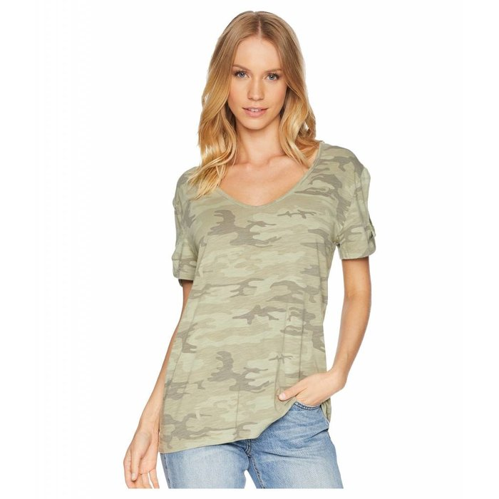 Camo Twist Sleeve Tee (Various Colors)