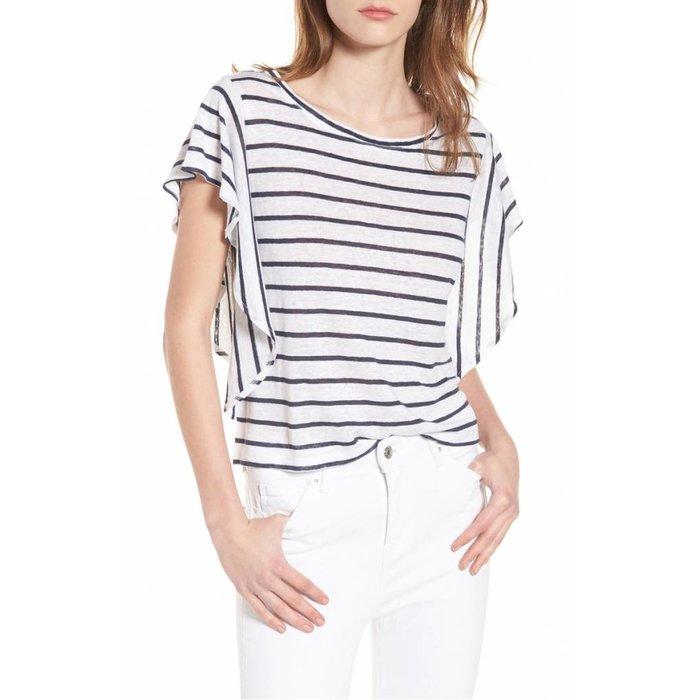 Cannon Stripe Linen Top