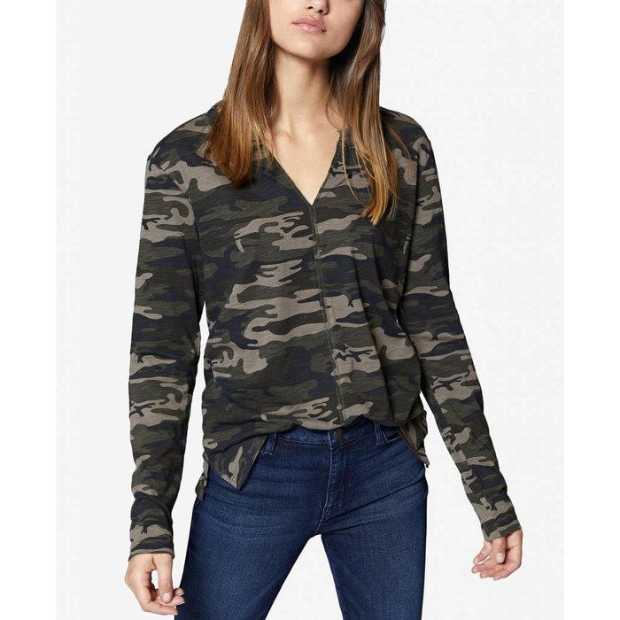 Camo-Print Long Sleeve Top