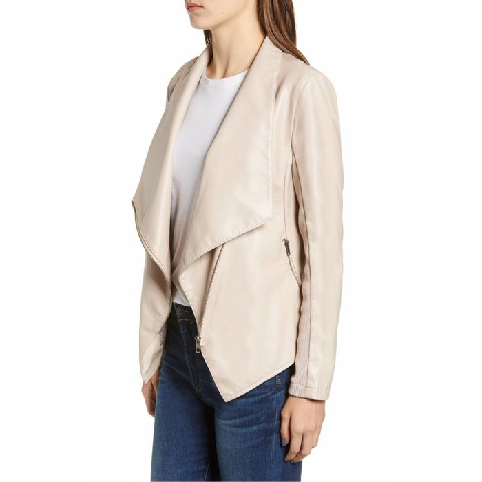 Gabrielle Faux Leather Asymmetrical Jacket