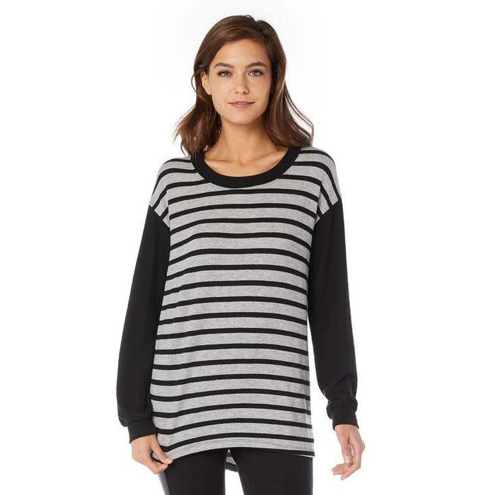 Michael Stars Madison Stripe Scoop Neck Pullover