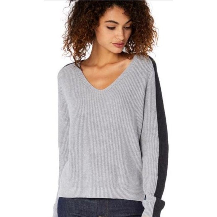 Michael Stars V-Neck Colorblock Pullover