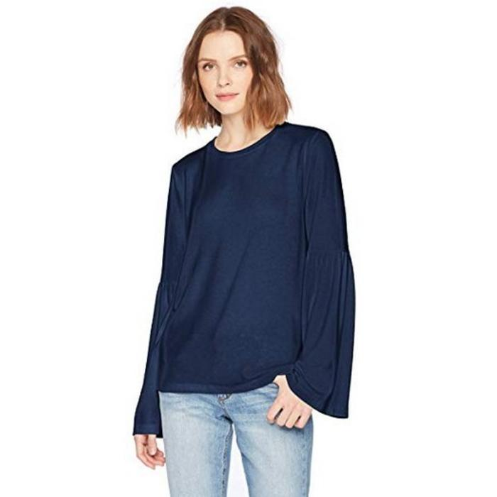Michael Stars Madison Brushed Jersey Bell Sleeve Top