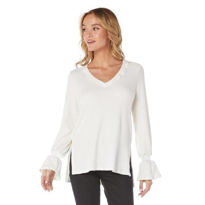 Micheal Star Madison Rib V-Neck Sweater