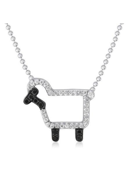 Julie Lamb 'Susie' Necklace In White Diamonds