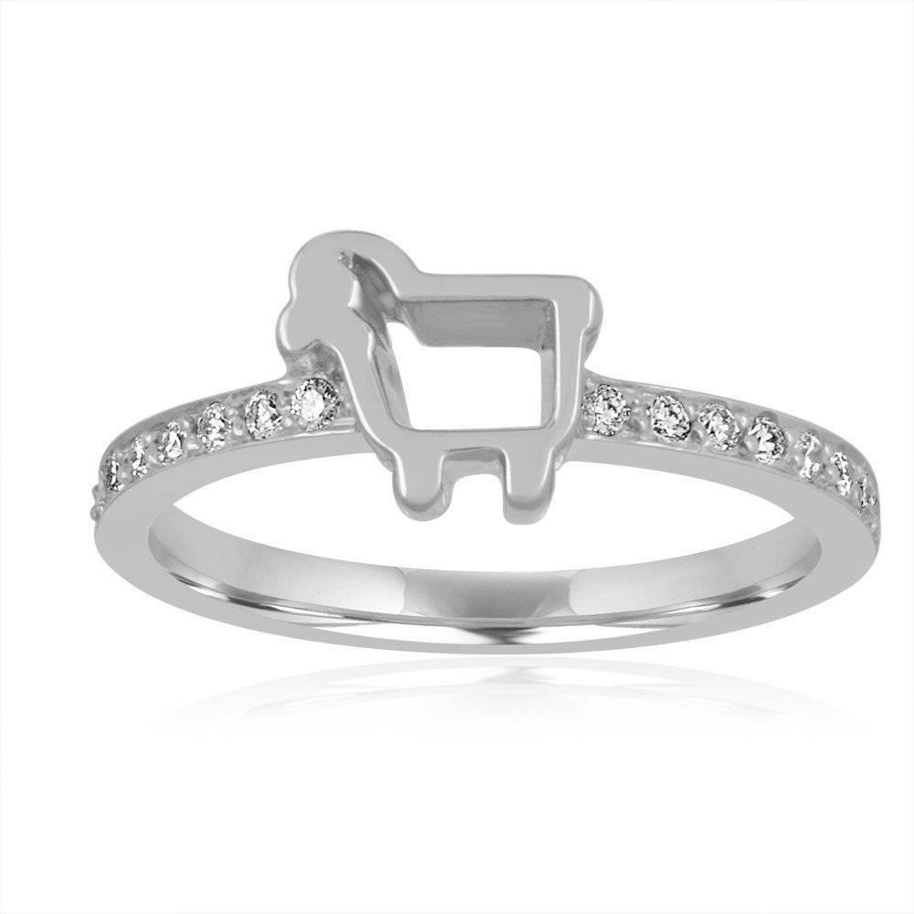 Julie Lamb Mini Pave Ring