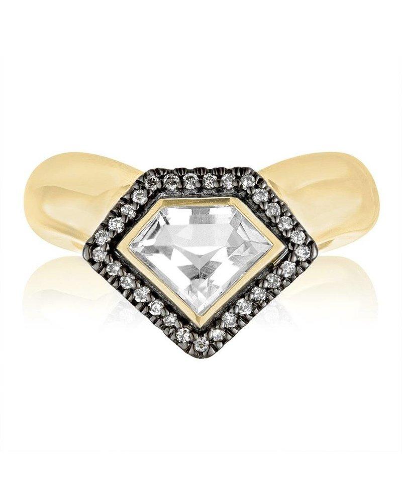 Julie Lamb Diamond Power Chevron Ring