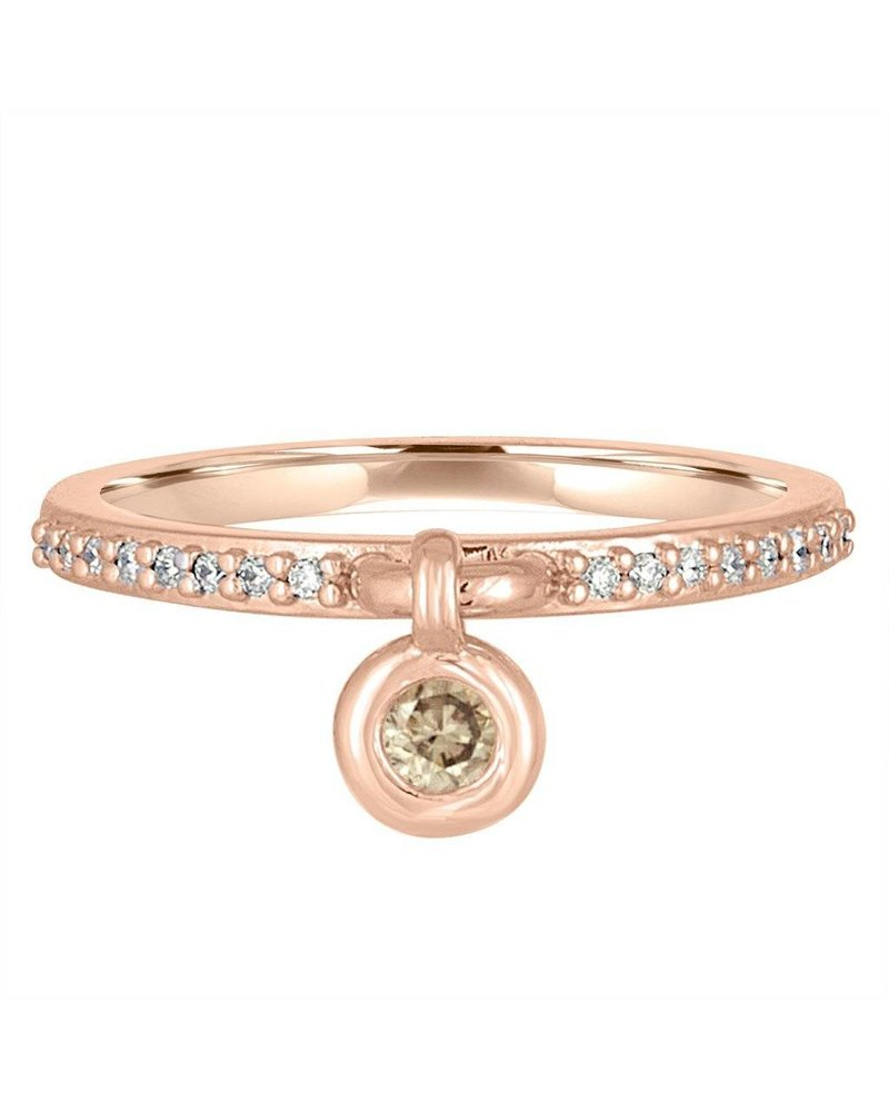 Julie Lamb Bouncing Bezel Diamond Charm Ring