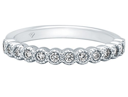 Kimberly Diamond Company Diamond Wedding Band with Milgrain
