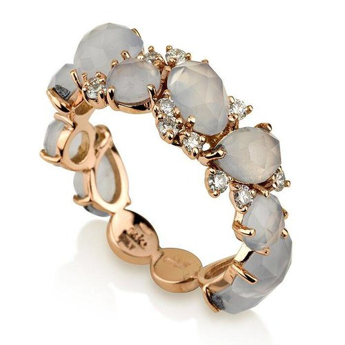 Inner Expressions Terra Blue Chalcedony Ring