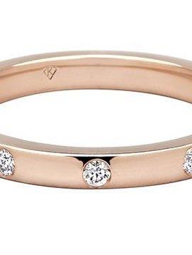 Kimberly Diamond Company Burnished Diamond Stack Band