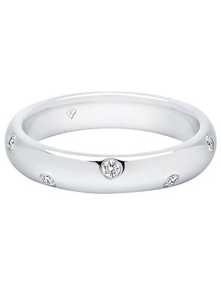Kimberly Diamond Company Burnished Diamond Stack Band