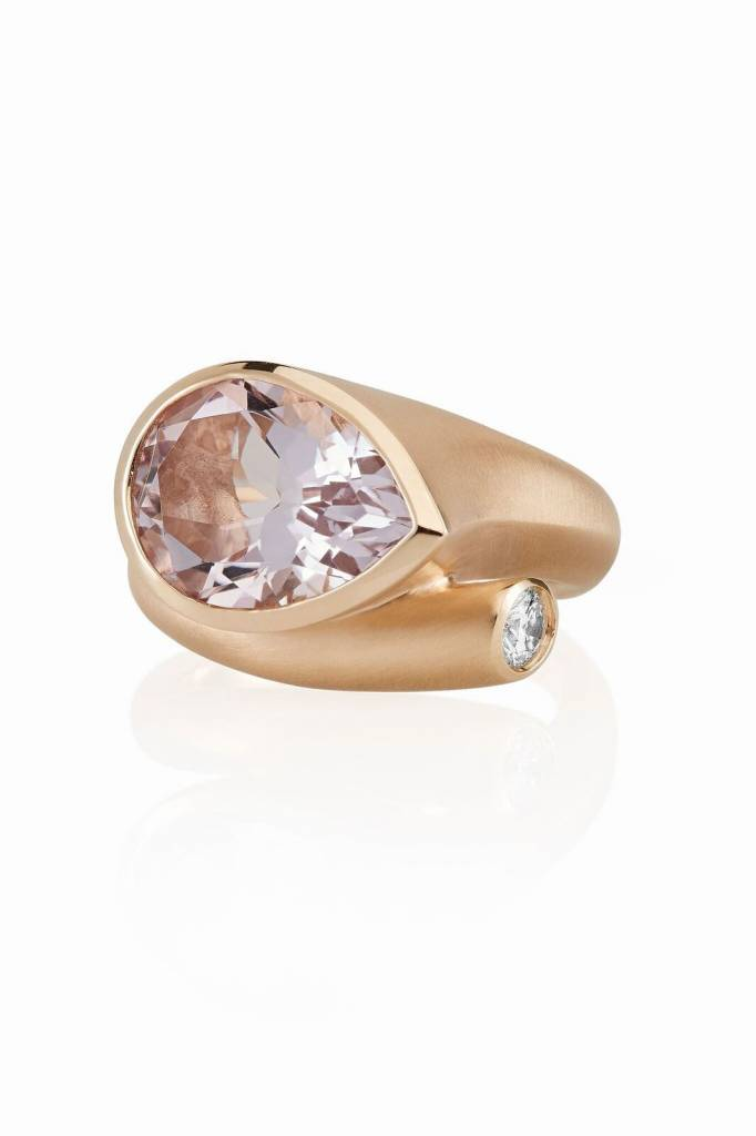 Carelle Large Whirl Rose De France Diamond Ring