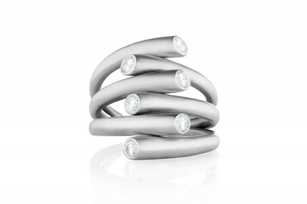 Carelle Whirl Diamond Ring