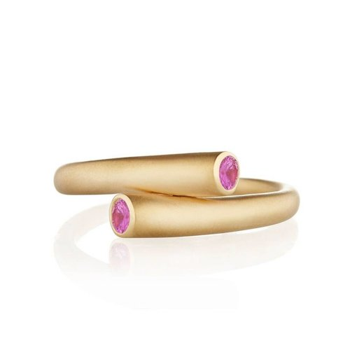 Carelle Whirl Single Pink Sapphire Ring