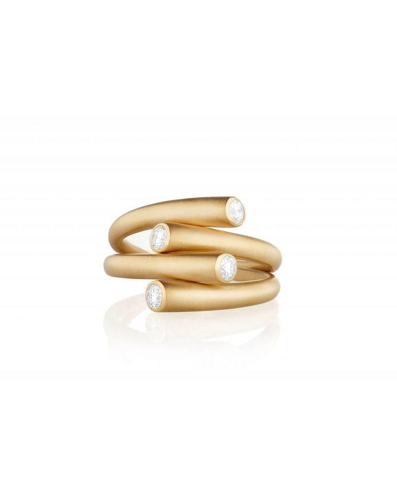 Carelle Whirl Duo Diamond Ring