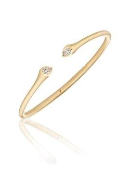 Carelle Whirl Clustered Diamond Bangle