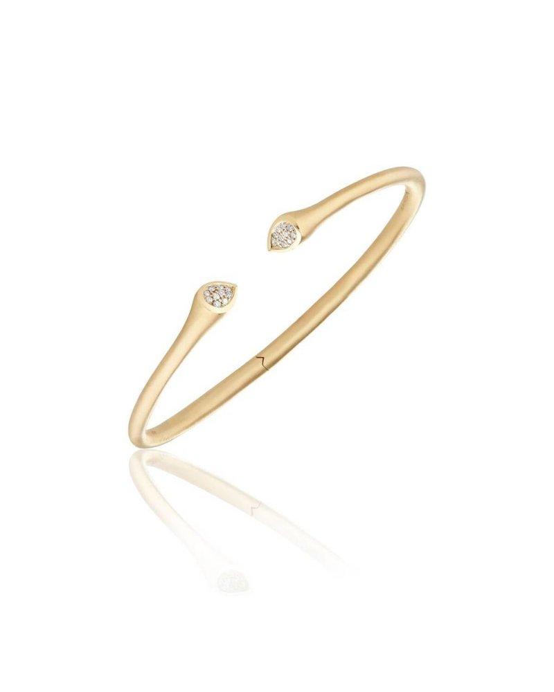 Carelle Whirl Clustered Diamond Bangle