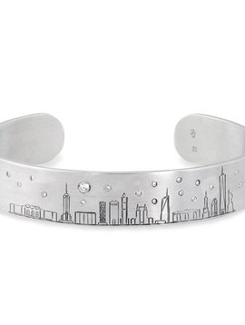 Katherin and Josephine Silver & Diamond Skyline Cuff